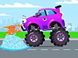 Purple Monster Truck and а chili pepper