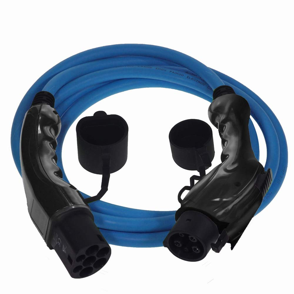 Premium Euro Series EV Charging Cable Type 1 to Type 2 Blue cable with Free Carry Case (32 amp | 15 meter | 7.2kW) EV Cables LTD