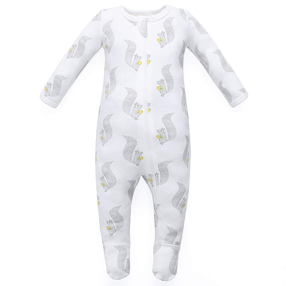 b96da8ac8 Amazon.com: Owlivia Organic Cotton Baby Boy Girl Zip Front Sleep 'N Play,  Footed Sleeper, Long Sleeve: Clothing