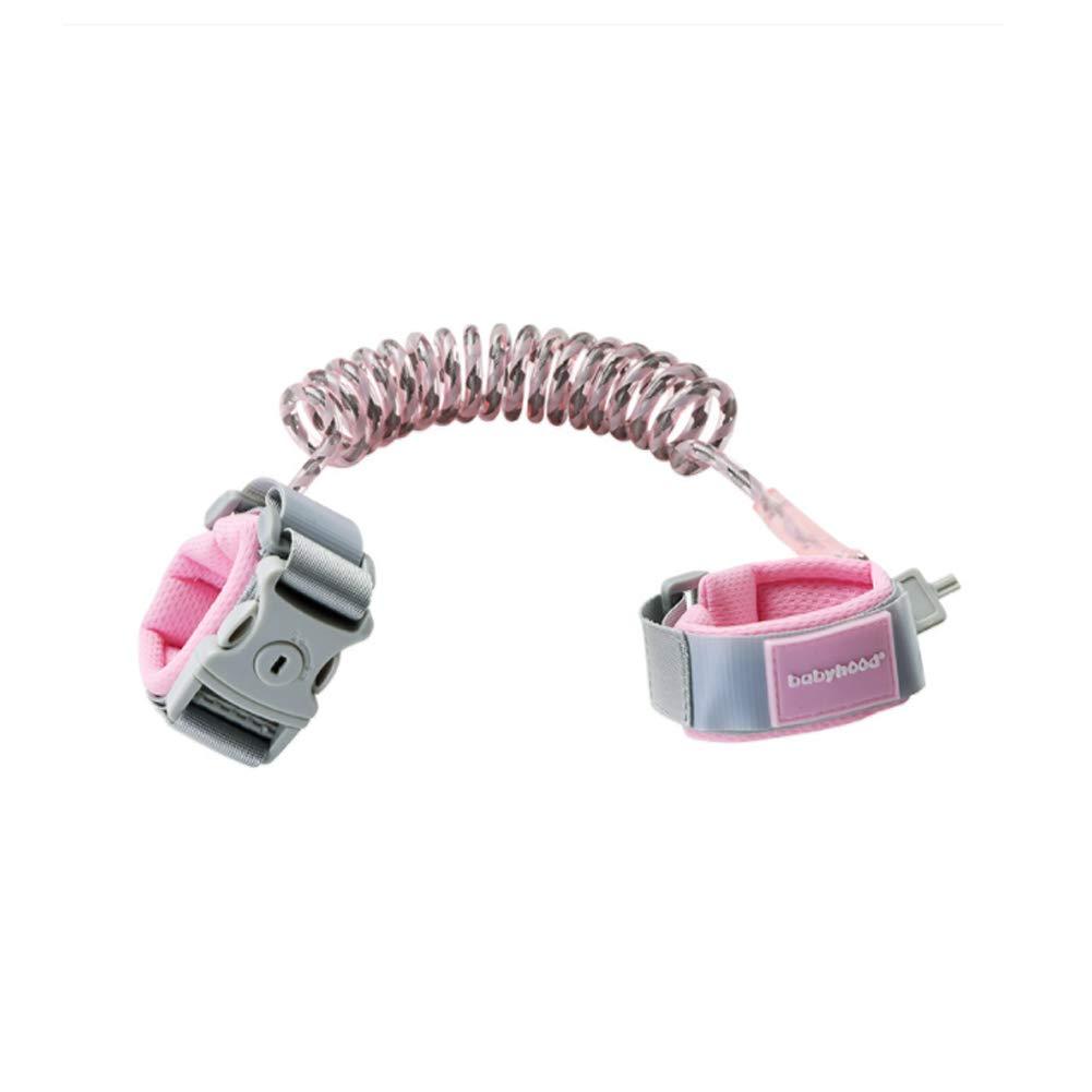 MQC Children's Anti-Lost Belt Traction Rope Lost Children's Bracelet Slip Baby Artifact Baby Anti-Lost Rope,Pink,2.5m