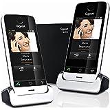 Gigaset SL910 Duo Téléphone tactile sans fil Noir