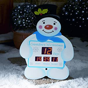 Snowman christmas countdown clock from premier decorations for 36 countdown to christmas snowman yard decoration