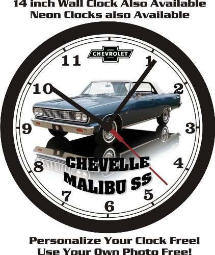 1964 CHEVROLET CHEVELLE MALIBU SS WALL CLOCK-FREE US SHIP-NEW! 1964 Chevrolet Chevelle Ss