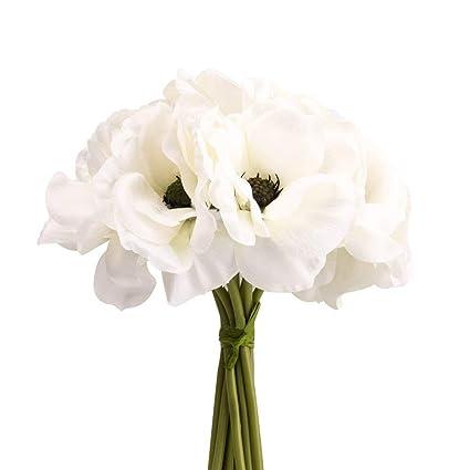 Amazon silk white anemone bouquet home furnishing decorative silk white anemone bouquet home furnishing decorative flowers 39quot mightylinksfo
