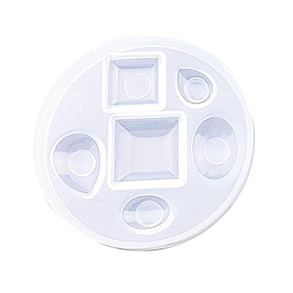 LUFA Crystal Gem Silicona Molde de polímero de Arcilla Artesanal Resina epoxi joyería Colgante Molde