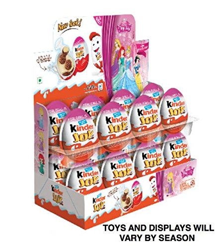 Kinder Display With 16 Units     Kinder Joy With Surprise Inside   Sold By Icstore  Girls Display W  16