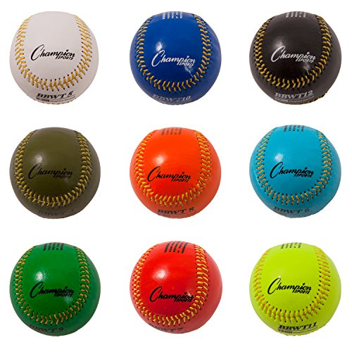 Champion Sports Weighted Training Baseball Set with Nylon Carrying Case, Set of ()