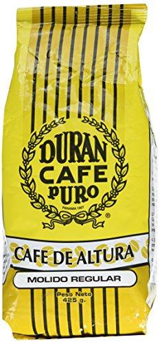 Panama Café Duran Cafe de Altura Molido Regular Best Ground Coffee 15oz. Package Panama's Highest Quality Highland Coffee (Chiriqui Mountains)