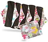 Period Mate Cloth Menstrual Pads All Patterns and Sizes (Large, Rainbow Hearts)