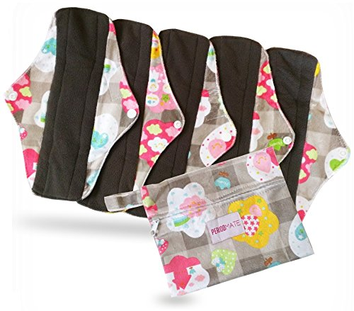 period-mate-reusable-6-pcs-set-cloth-menstrual-pads-with-bamboo-charcoal-absorbency-with-wet-bag-6-p