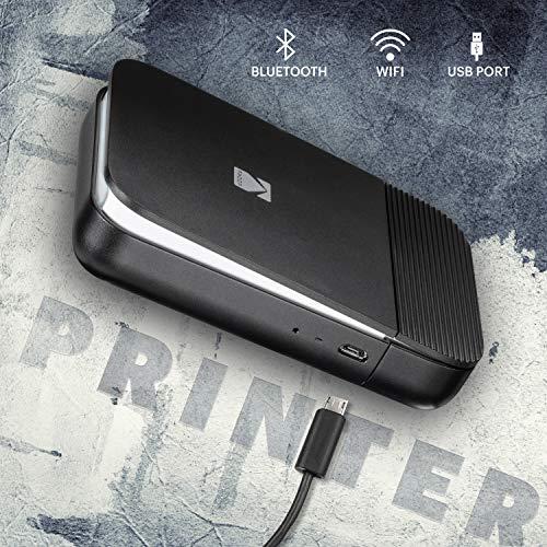 KODAK Smile Instant Digital Printer - Pop-Open Bluetooth Mini Printer for  iPhone & Android - Edit, Print & Share 2x3 Zink Photos w/Free Smile App -