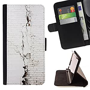 "For Sony Xperia Style T3,S-type Blanco Ladrillo Muro"" - Dibujo PU billetera de cuero Funda Case Caso de la piel de la bolsa protectora"