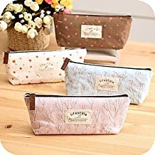 BST Wedding Favors Vintage Flower Floral Pencil Pen Cosmetic Makeup Storage Bag Pouch Case Purse Kids Birthday Wedding Return Gift