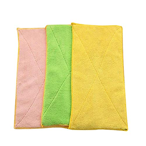Fan-Ling Mixed Color Microfiber Car Cleaning Towel,Kitchen Washing Polishing Cloth,Washing Cloth,Cleaning Cloths, for Cleaning Bowl Pot Kitchen or Clean Glass&car,Soft, Comfortable (3)