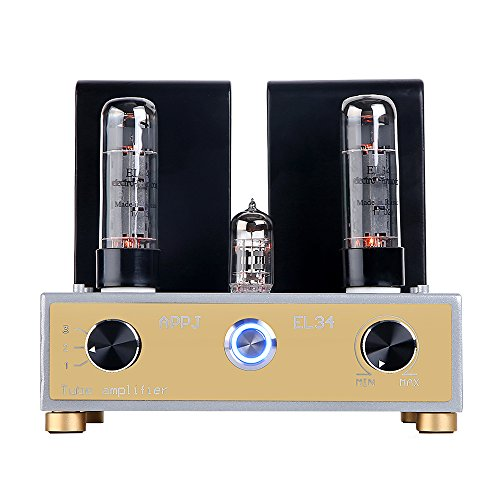 Nobsound APPJ 12W+12W Mini Russian Electro Harmonix EL34 Single-Ended Vacuum Tube Amplifier; Hi-Fi Stereo Desktop Audio Power Amp ()