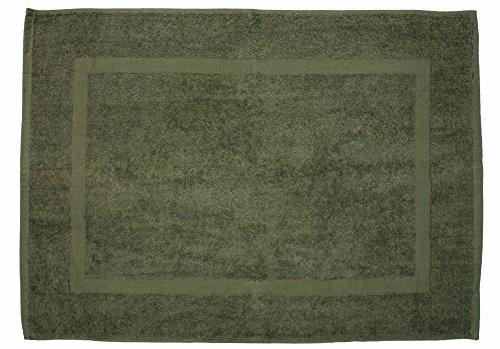 J&M Home Fashions, Cotton Bath Mat, Ultra Absorbent, 20x30, Olive Green