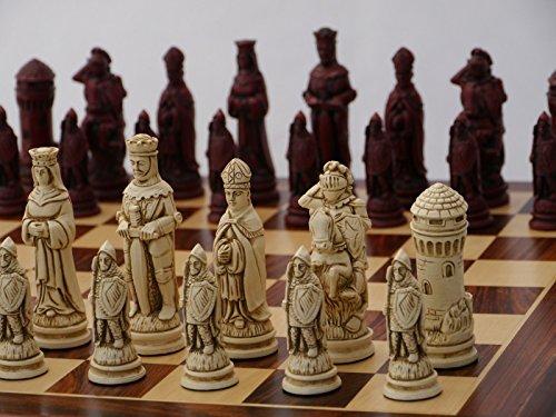 【予約】 Camelot Ornamental Ornamental B072LNY3TF Chess Set (cream included) and red, board not included) B072LNY3TF, 鳥栖市:b9cdee9a --- nicolasalvioli.com