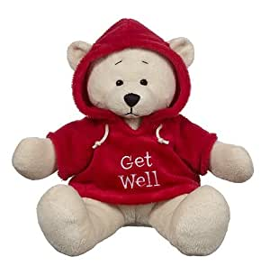 "Ganz 9"" Get Well Hoodie Bear Plush Toy, Red"