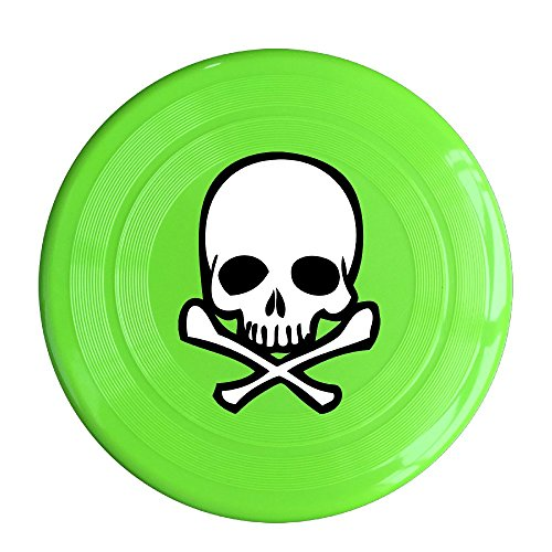 LINNA Unisex Head Skull With Crossbone Outdoor Game, Sport, Flying Discs,Game Room, Light Up Flying, Sport Disc ,Flyer Frisbee,Ultra Star KellyGreen One Size
