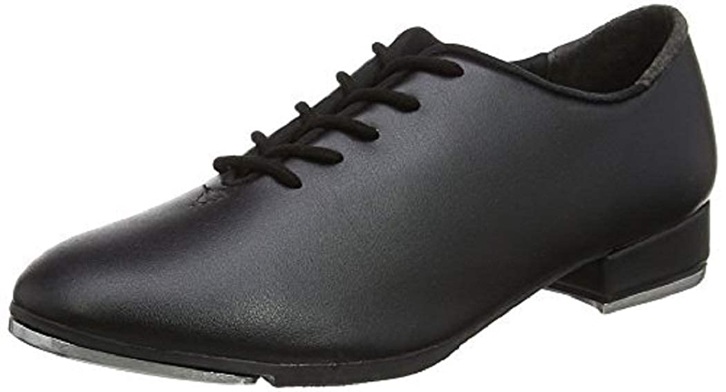 So Danca Black Beginner Lace Up Attached Tap Shoe Little Girls 11
