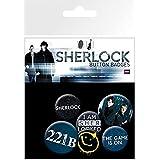 Sherlock Badge Pack - 221B, Sherlocked, 4 X 25mm & 2 X 32mm Badges (6 x 4 inches)