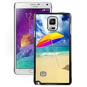 NEW DIY Unique Designed Samsung Galaxy Note 4 Phone Case For Beach Umbrella On The Beach Phone Case Cover