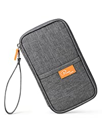 Mossio Travel Wallet Passport Holder Journey Case Document Organizer Ticket Holder Grey