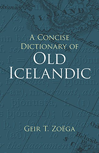 Old Dictionary Book (A Concise Dictionary of Old Icelandic (Dover Language Guides))