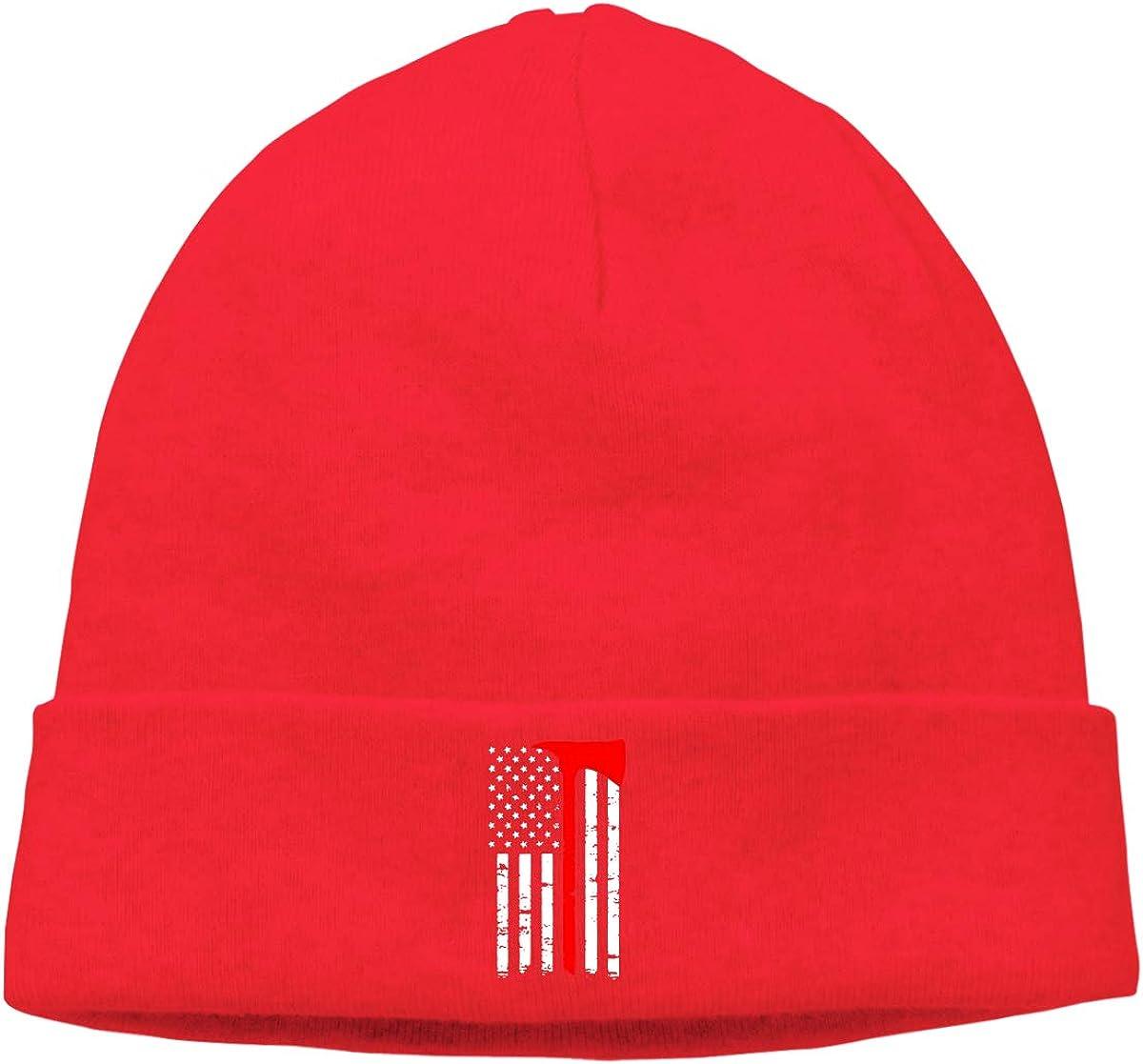 Firefighter Thin Red Line Men /& Women Beanie Winter Warm Knit Beanie Cap