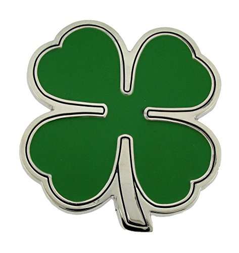 Four Leaf Shamrock St. Patrick Irish Day Clover Lucky Belt Buckle Metal Fashion (Leaf Shamrock St. Patrick Irish Day Clover Lucky)
