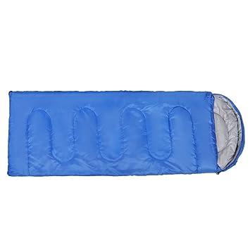 Saco de dormir con saco de compresión, saco de dormir portátil exterior impermeable para acampar yendo de excursión con mochila azul viajando: Amazon.es: ...