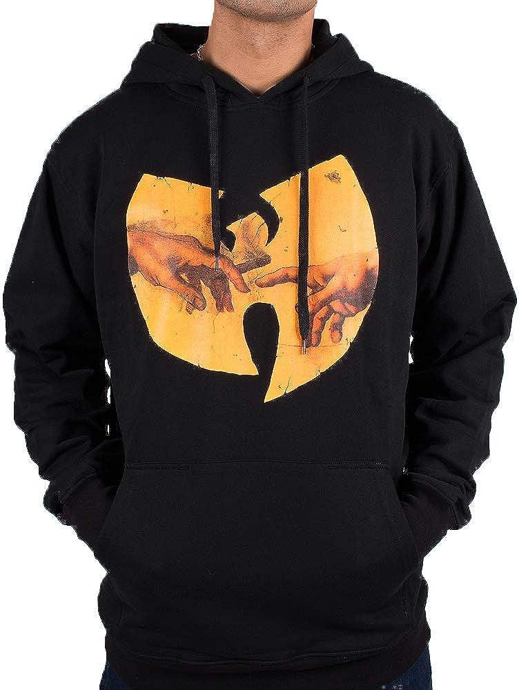Herren Wu Tang Clan Urban Streetwear Fashion Pulli Hip Hop Wu Wear Hoodie Wu Adam Hooded schwarz