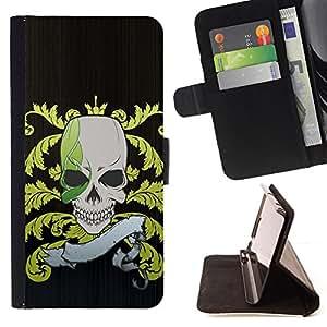 For Apple Iphone 5C - Funny Pirate Skull Flag /Funda de piel cubierta de la carpeta Foilo con cierre magn???¡¯????tico/ - Super Marley Shop -