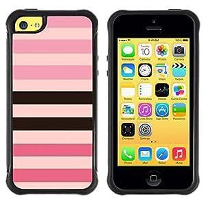 Suave TPU GEL Carcasa Funda Silicona Blando Estuche Caso de protección (para) Apple Iphone 5C / CECELL Phone case / / line pattern pink purple black equals /