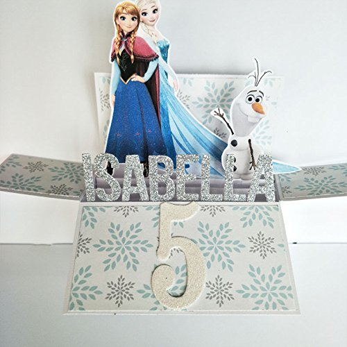 Amazon Name Age Personalised Birthday Card Handmade Frozen