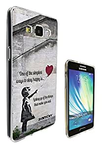 544 - Banksy Grafitti Art Balloon Girl Funky Quote Design Samsung Galaxy A3 Fashion Trend CASE Gel Rubber Silicone All Edges Protection Case Cover