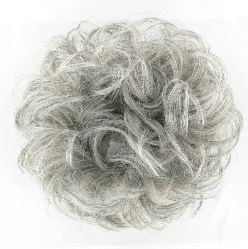 WIG UNIVERS Hair Extension Scrunchie 17 In Grey 51 (Grey Hair Extensions)