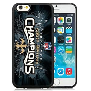 Great Quality iPhone 6 4.7 Inch TPU Case ,Beautiful And Unique Designed Case With New Orleans Saints Black iPhone 6 Cover Phone Case