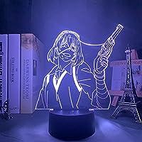Kakegurui Midari Ikishima Led Nachtlampje voor Slaapkamer Decor Kleurrijke Nachtlampje Anime Gift 3d Lamp Midari…