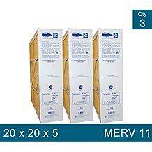 """M2-1056 Genuine Original MERV 11, Actual Size 20 1/4"""" x 20 3/4"""" x 5 1/4"""" Case of 3"""