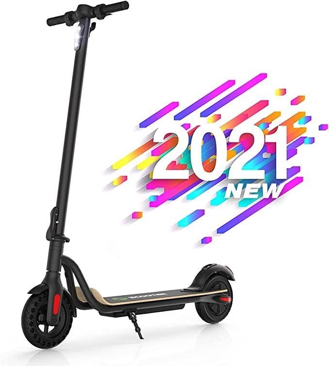 """Mtricscoto S10 Electric Scooter, 10-13.6 Miles Long Range Battery, Up to 15.5 MPH, 8"""" Tires, Portable and Folding Adults Electric Scooter for Short Trips"""