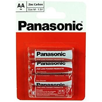 Amazon Panasonic Aa Pack Of 4 Zinc Carbon Batteries Home