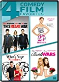 DVD : This Means War / 27 Dresses / What's Your Number / Bride Wars Quad Feature