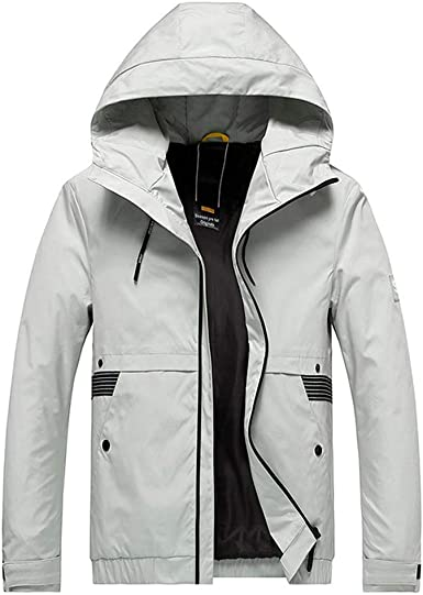 MODOQO Mens Army Outdoor Zipper Jacket Stand Collar Long Sleeve Thick Warm Outwear