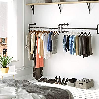 Amazon.com: SONGMICS - Perchero de pared para colgar ropa ...