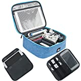 Iksnail Electronics Accessories Organizer, Cable Organizer Travel Bag, Electronic Cord Organizer and Storage Bag for Cables, Phone, Power Bank, Mouse, iPad, headphone, USB Flash Drive, Blue