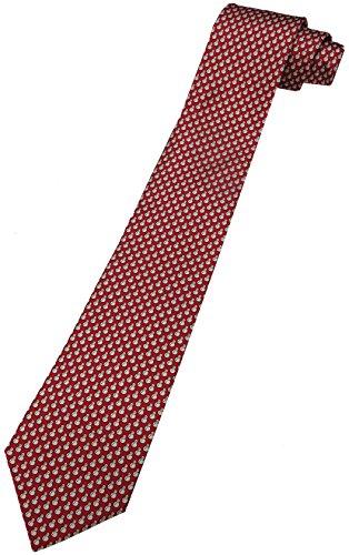 - Tommy Hilfiger Neck Tie Christmas Red w/ Snowmen