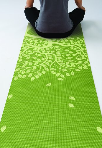Gaiam Print Yoga Mat, Tree of Life, 3/4mm
