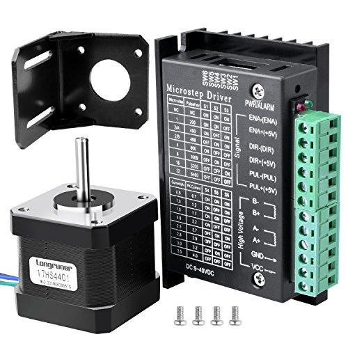 Stepper Motor, Longruner Nema 17 Bipolar 42mm 37oz.in(26Ncm) 12V 0.4A Lead 3D Printer Hobby CNC (2 Pack)