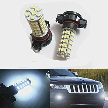 2 piezas de H16 68 1210 SMD 5202 repuesto de bombilla LED de bombillas para luces antiniebla o las luces de circulación diurna, Xenon Blanco: Amazon.es: ...